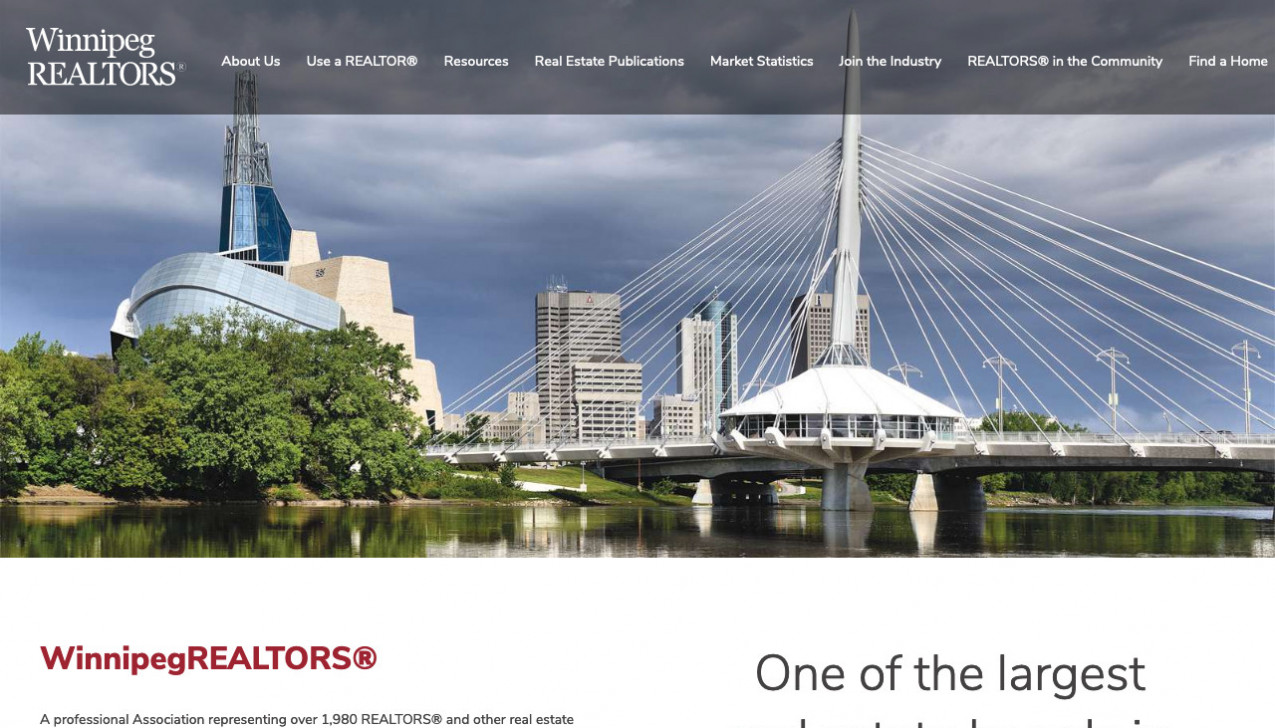 """Winnipeg REALTORS"" Project Main Screenshot"