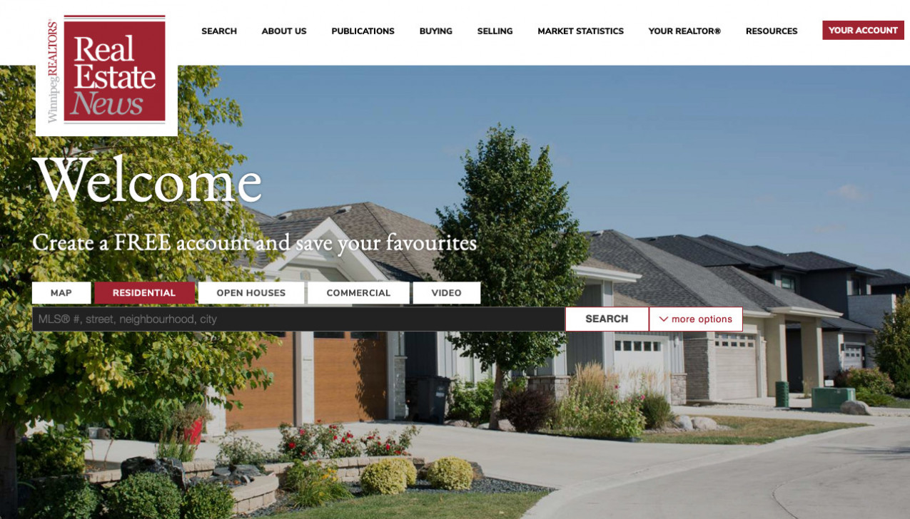 """Winnipeg Real Estate News"" Project Main Screenshot"